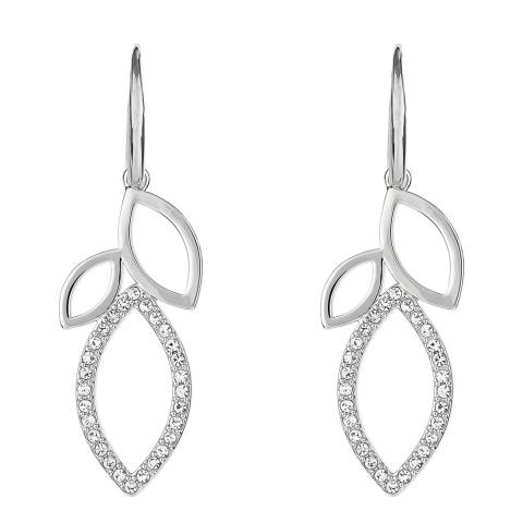 Adore by Swarovski® Silver Open Petal French Wire Earrings