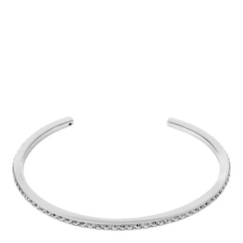 Adore by Swarovski® Silver Skinny Pave Bangle