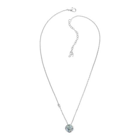 Adore by Swarovski® Silver Blue Soft Square Necklace