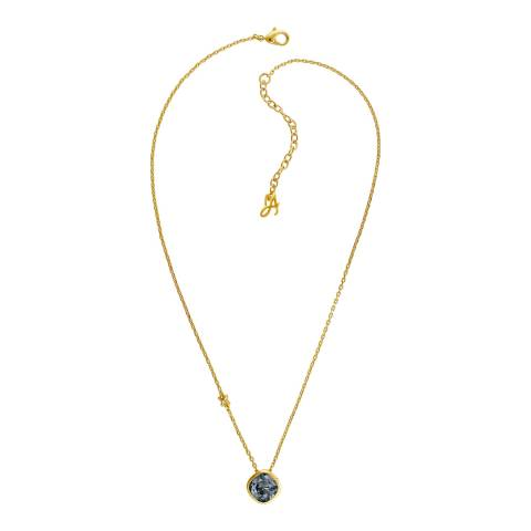 Adore by Swarovski® Gold Plated Black Soft Square Necklace