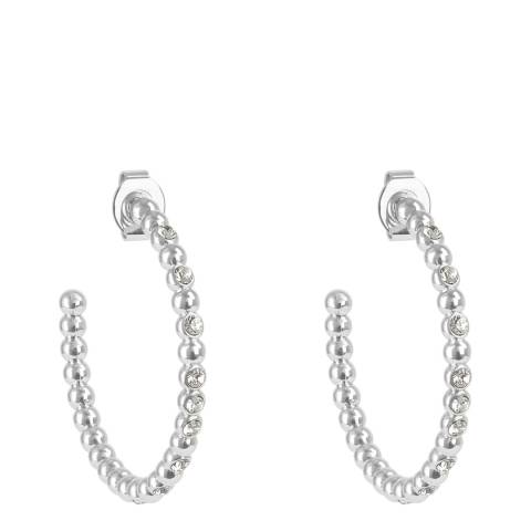 Adore by Swarovski® Silver Crystal Beaded Large Hoops