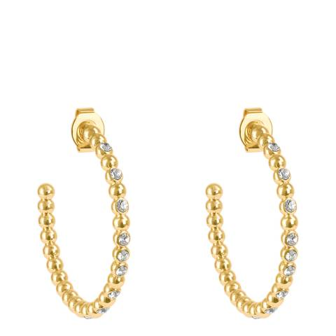 Adore by Swarovski® Gold Plated Crystal Beaded Large Hoops