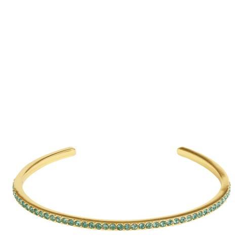 Adore by Swarovski® Gold Plated Light Sapphire Skinny Pave Bangle