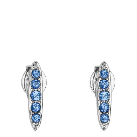 Adore by Swarovski® Silver Sapphire Pave Navette Stud Earrings