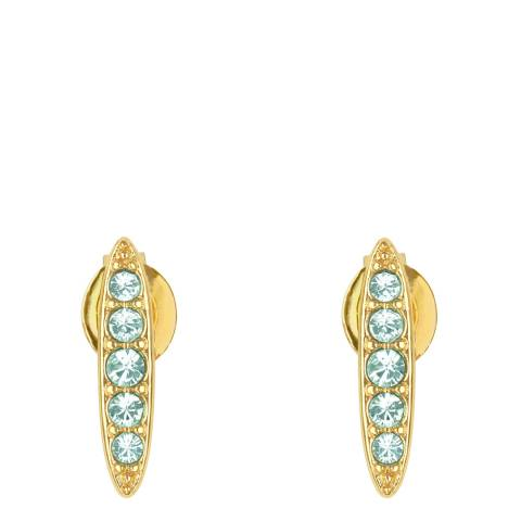 Adore by Swarovski® Gold Plated Azore Pave Navette Stud Earrings