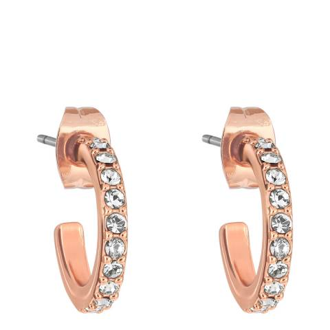 Adore by Swarovski® Rose Gold Plated Pave Hoops