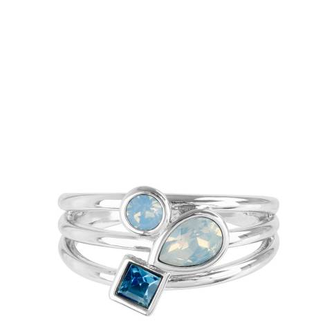 Adore by Swarovski® Silver Mixed Crystal Charm Ring