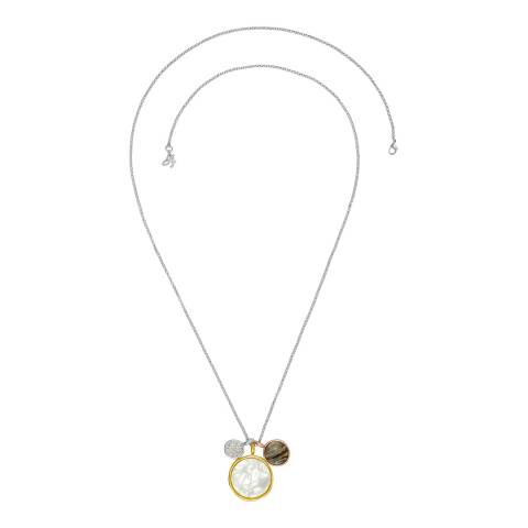 Adore by Swarovski® Silver Large Resin Circle Charm Necklace