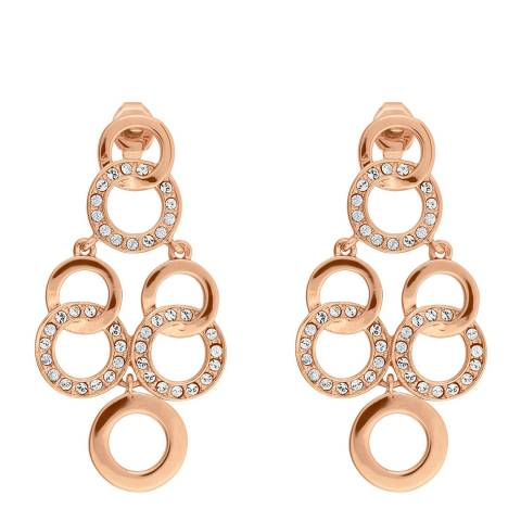 Adore by Swarovski® Rose Gold Interlocking Chandelier Earrings