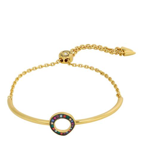 Adore by Swarovski® Gold Plated Organic Circle Slide Bracelet