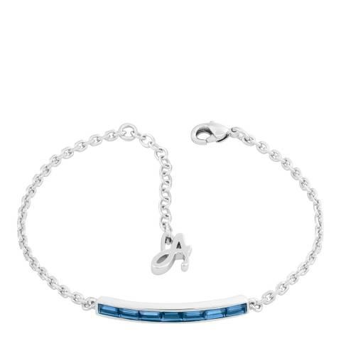 Adore by Swarovski® Silver Blue Baguette Bar Bracelet