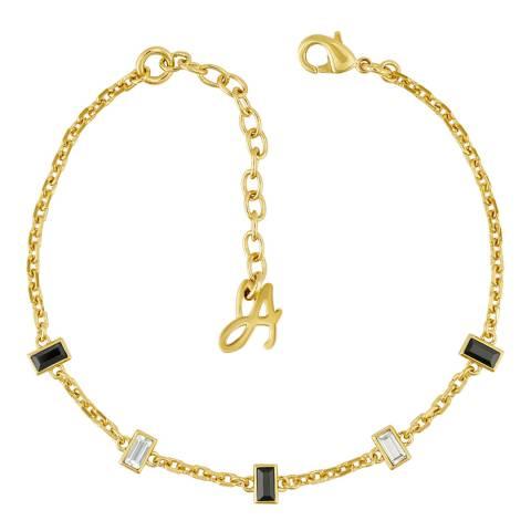 Adore by Swarovski® Gold Plated Baguette Bar Station Bracelet