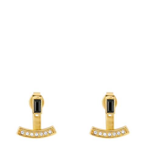 Adore by Swarovski® Gold Plated Baguette Bar Jacket Earrings
