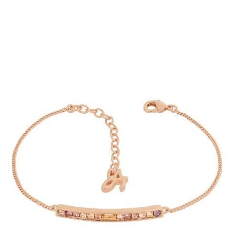 Adore by Swarovski® Rose Gold Plated Baguette Round Bar Bracelet