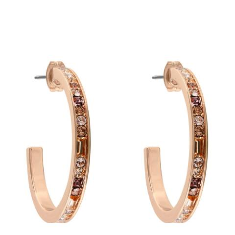 Adore by Swarovski® Rose Gold Plated Baguette Round Hoop Earrings