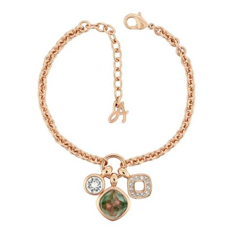 Adore by Swarovski® Rose Gold Mother of Pearl Doublet Charm Bracelet
