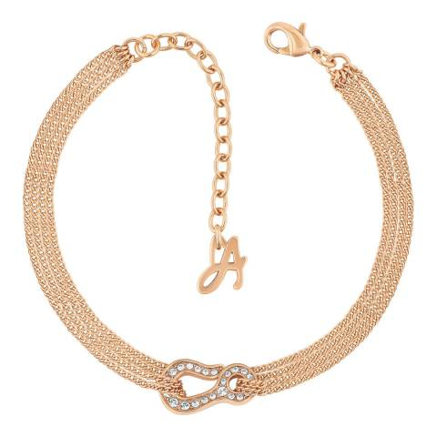 Adore by Swarovski® Rose Gold Plated Pave Hook Bracelet