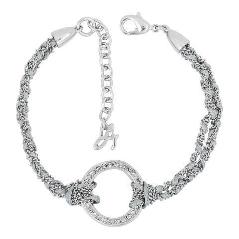 Adore by Swarovski® Silver Organic Circle Braided Bracelet
