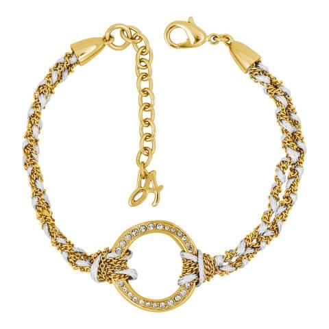 Adore by Swarovski® Gold Plated Organic Circle Braided Bracelet
