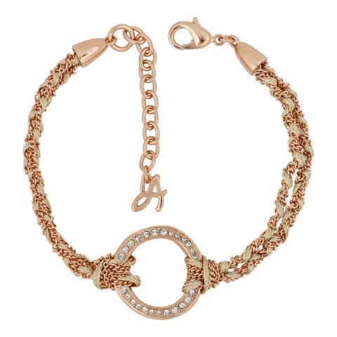 Adore by Swarovski® Rose Gold Plated Organic Circle Braided Bracelet