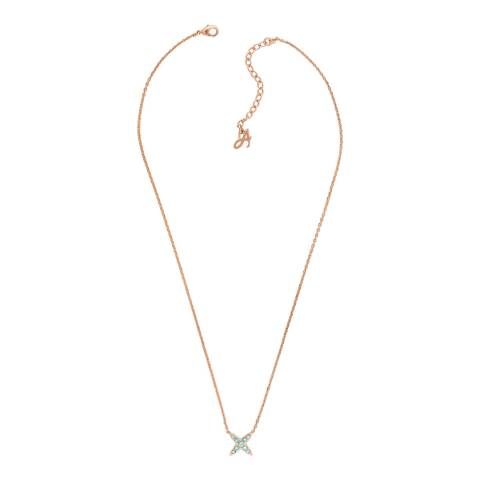 Adore by Swarovski® Rose Gold 4 Point Star Necklace