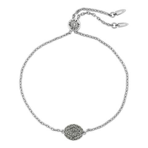 Adore by Swarovski® Silver Pave Oval Slide Bracelet