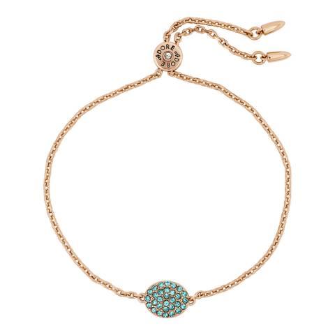 Adore by Swarovski® Rose Gold Plated Pave Oval Slide Bracelet