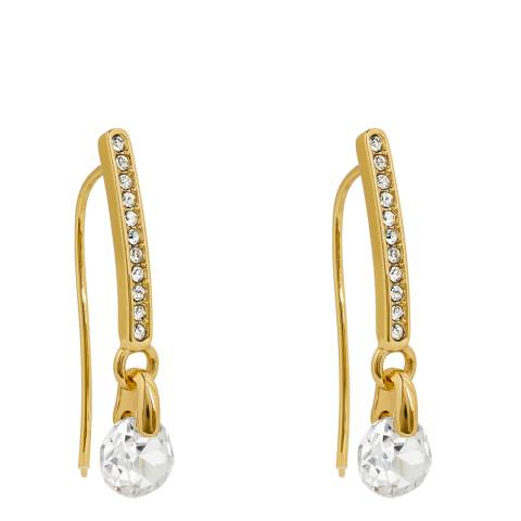 Adore by Swarovski® Gold Plated Linear Pave French Wire Earrings