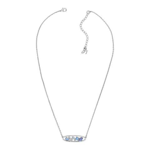 Adore by Swarovski® Silver Crystal Oval Necklace