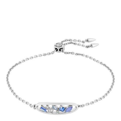 Adore by Swarovski® Silver Blue Crystal Oval Bracelet