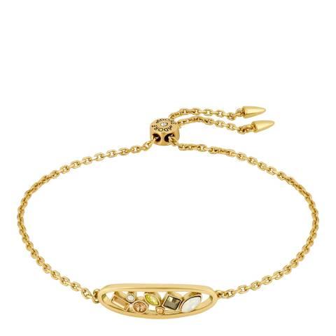Adore by Swarovski® Gold Plated Blue Crystal Oval Bracelet