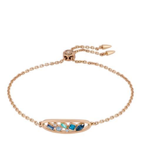 Adore by Swarovski® Rose Gold Plated Blue Crystal Oval Bracelet
