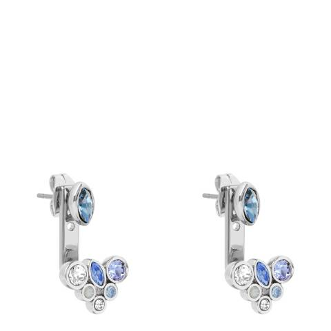 Adore by Swarovski® Silver Blue Crystal Earring Jackets
