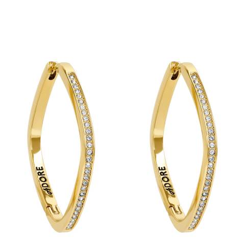 Adore by Swarovski® Gold Plated Soft Square Hoop Earrings