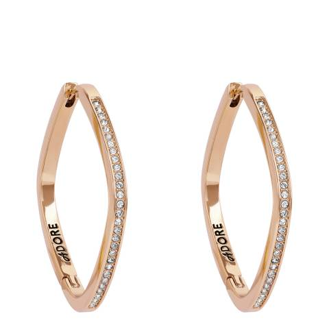 Adore by Swarovski® Rose Gold Soft Square Hoop Earrings