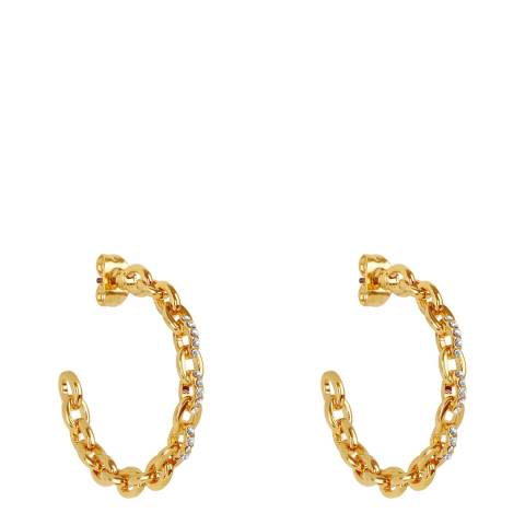 Adore by Swarovski® Gold Plated Cable Link Hoop Earrings