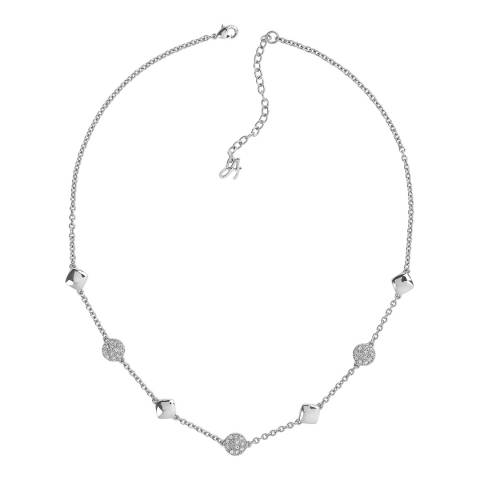 Adore by Swarovski® Silver Pave Crystal Station Necklace