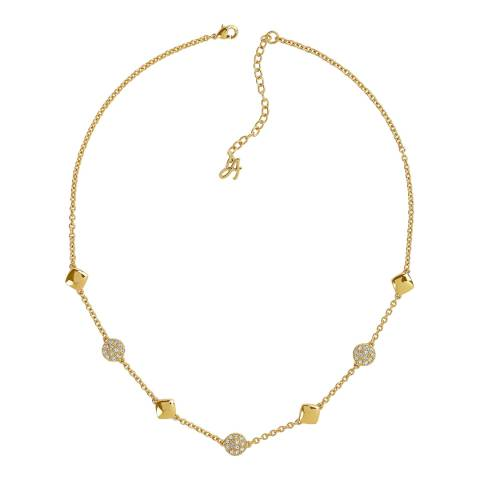 Adore by Swarovski® Gold Plated Pave Crystal Station Necklace