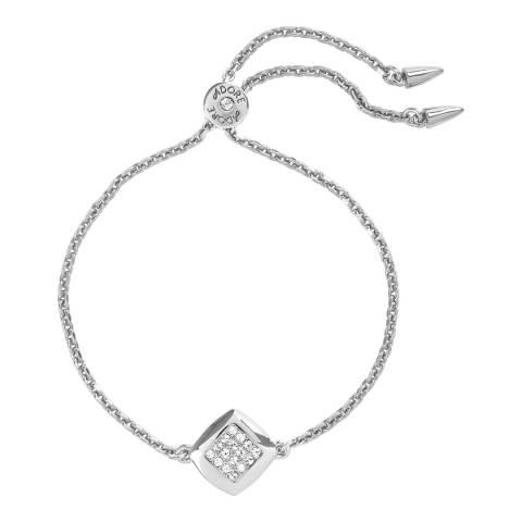 Adore by Swarovski® Silver Square Pave Crystal Bracelet