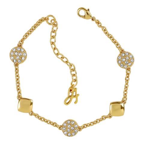 Adore by Swarovski® Gold Plated Pave Crystal Station Bracelet