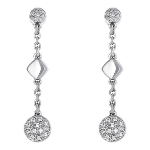 Adore by Swarovski® Silver Crystal Metal Post Drop Earrings