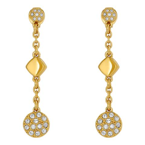 Adore by Swarovski® Gold Plated Crystal Metal Post Drop Earrings