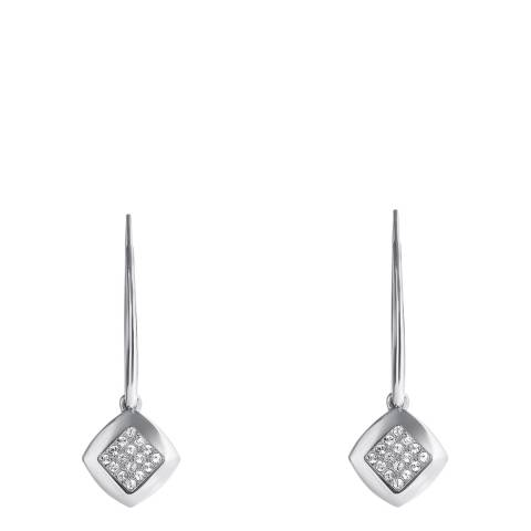 Adore by Swarovski® Silver Plated Pave Crystal Drop Earrings