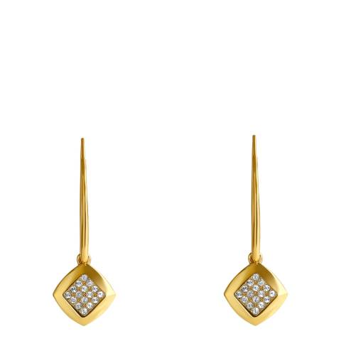 Adore by Swarovski® Gold Plated Pave Crystal Drop Earrings