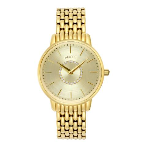 Adore by Swarovski® Gold Plated Luxe Bracelet Watch 33mm
