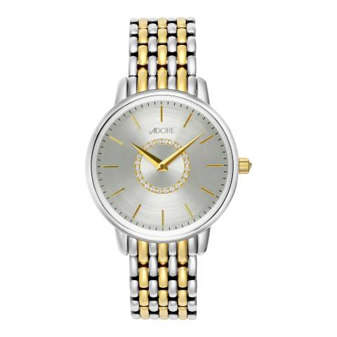 Adore by Swarovski® Silver Gold Plated Luxe Bracelet Watch 33mm