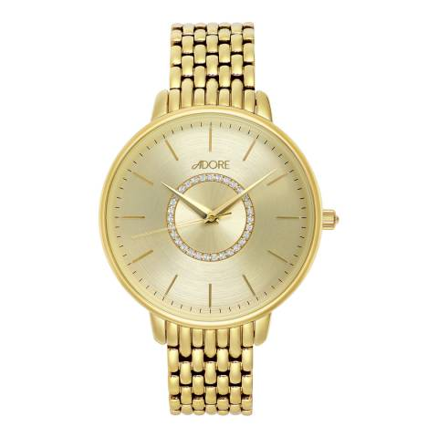 Adore by Swarovski® Gold Plated Luxe Bracelet Watch 38mm