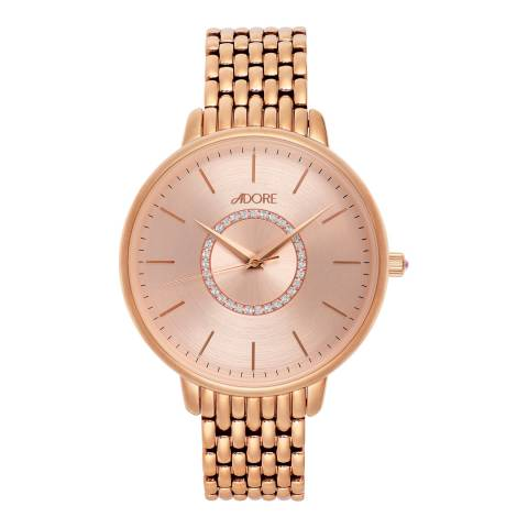 Adore by Swarovski® Rose Gold Plated Luxe Bracelet Watch 38mm