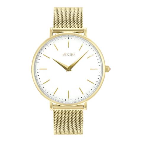 Adore by Swarovski® Gold Plated Shimmer Mesh Watch 33mm