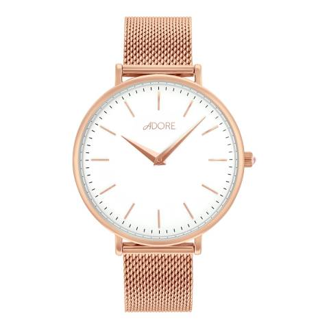 Adore by Swarovski® Rose Gold Plated Shimmer Mesh Watch 33mm